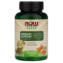 Now Foods, 寵物,Urinary Support(狗/貓專用),90 片咀嚼片