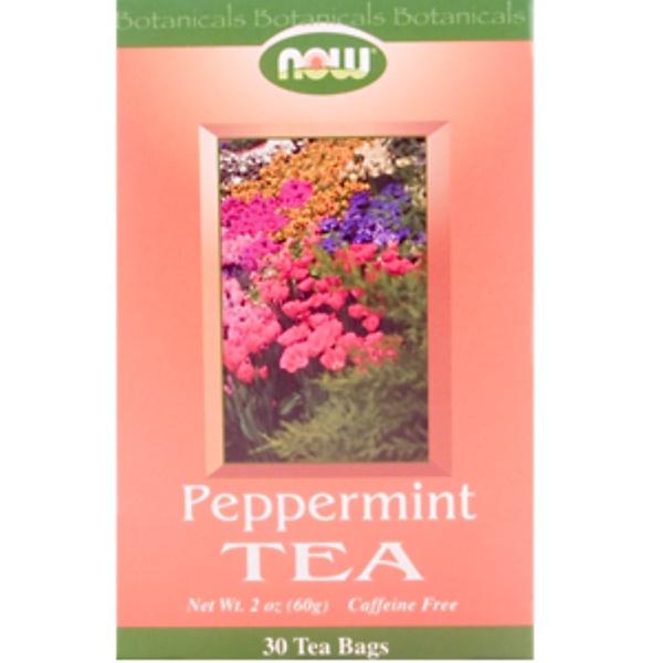 Now Foods, Peppermint Tea, Caffeine Free, 30 Tea Bags (Discontinued Item)