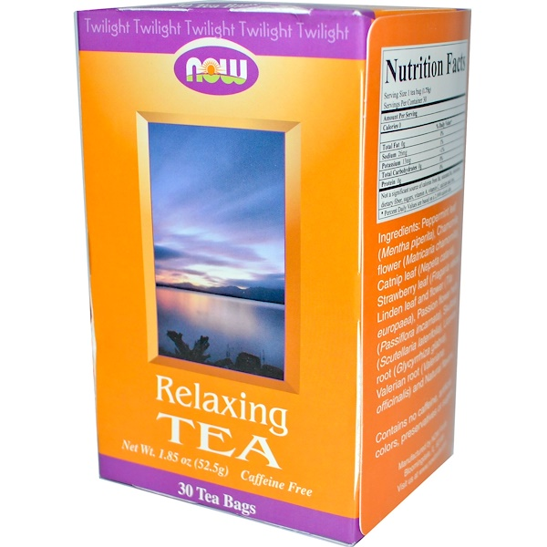 Now Foods, Relaxing Tea, Caffeine Free, 30 Tea Bags, 1.85 oz (52.5 g) (Discontinued Item)