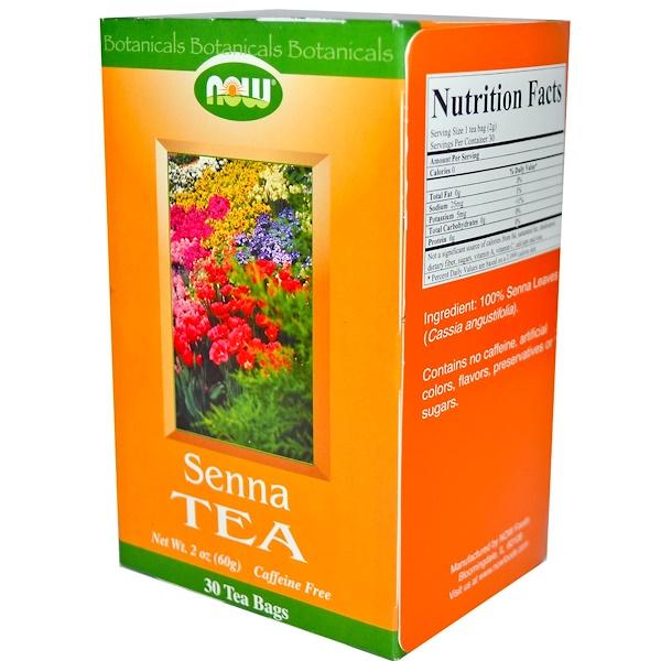 Now Foods, Senna Tea, Caffeine Free, 30 Tea Bags, 2 oz (60 g) (Discontinued Item)