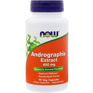Now Foods, Extracto Andrographis, 400 mg, 90 cápsulas vegetales