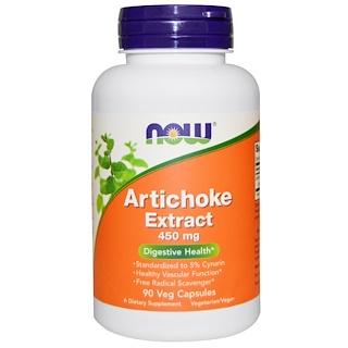 Now Foods, Artischocken-Extrakt, 450 mg, 90 vegetarische Kapseln