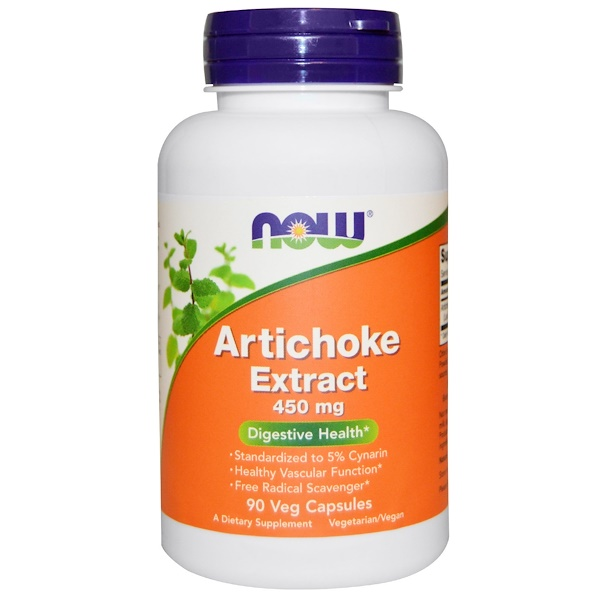 Now Foods, Artichoke Extract, 450 mg, 90 Veggie Caps