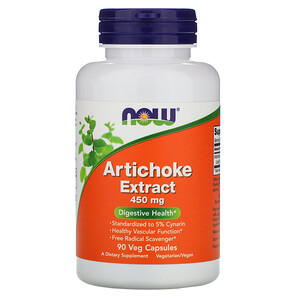 Now Foods, Artichoke Extract, 450 mg, 90 Veg Capsules отзывы покупателей