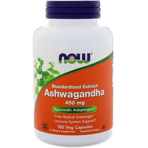 Now Foods, Ashwagandha, 450 mg, 180 Veg Capsules