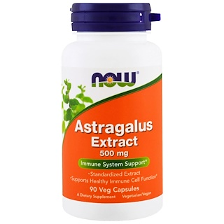 Now Foods, Extracto de astrágalo, 500 mg, 90 cápsulas