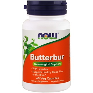 Now Foods, Butterbur, 60 Veg Capsules