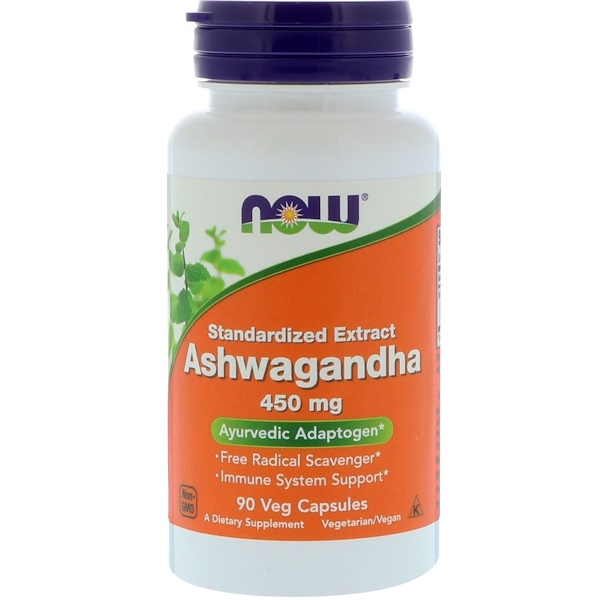 Now Foods, Ashwagandha, 450 mg, 90 cápsulas vegetarianas