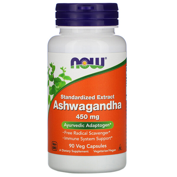 Now Foods, Ashwagandha, 450 mg, 90 Veg Capsules