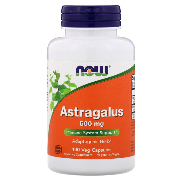Now Foods, Astrágalo, 500 mg, 100 Cápsulas Vegetais