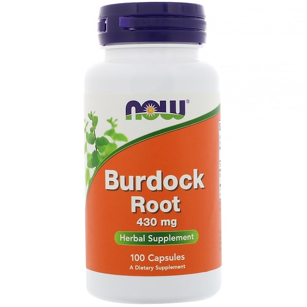 Now Foods, Burdock Root, 430 mg, 100 Capsules