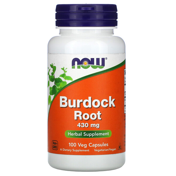Now Foods, Burdock Root, 430 mg, 100 Veg Capsules