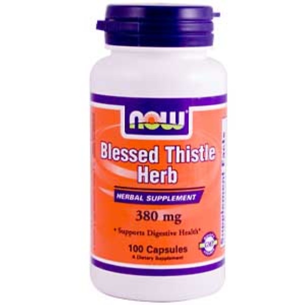 Now Foods, Blessed Thistle Herb, 380 mg, 100 Capsules (Discontinued Item)