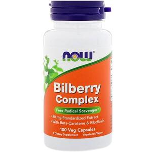 Now Foods, Bilberry Complex, 100 Veg Capsules отзывы покупателей