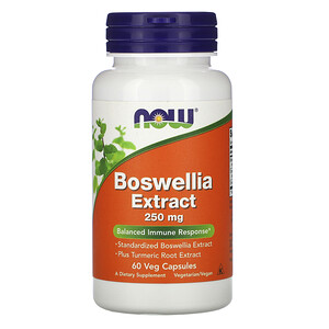 Now Foods, Boswellia Extract, 250 mg, 60 Veg Capsules отзывы