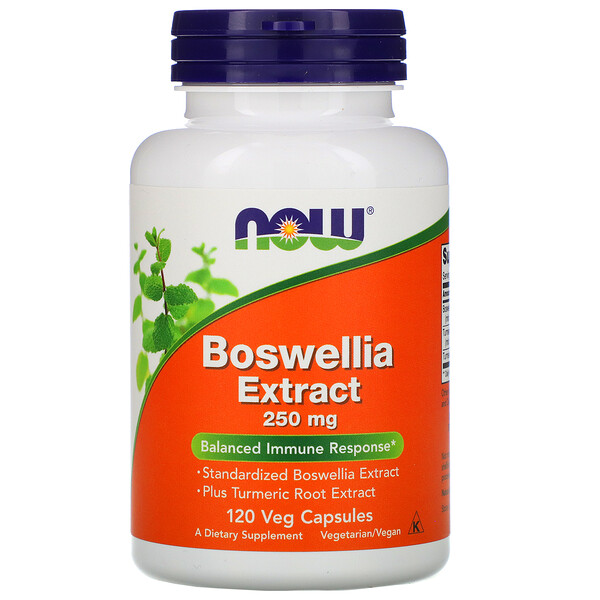 Now Foods, Extracto de Boswellia, 250 mg, 120 cápsulas vegetales