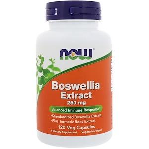 Now Foods, Экстракт босвеллии, 250 мг, 120 вегетарианские капсулы инструкция, применение, состав, противопоказания