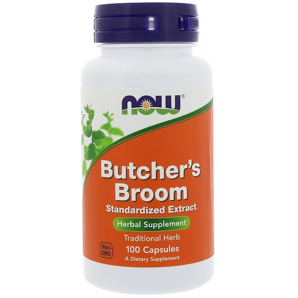 Now Foods, Butcher's Broom, 100 Capsules