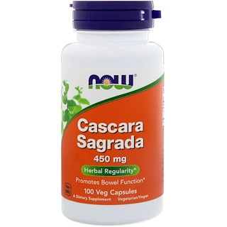 Now Foods, Крушина (Cascara Sagrada), 450 мг, 100 вегетарианских капсул