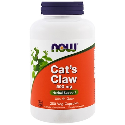 Фото - Cat's Claw, 500 mg, 250 Veg Capsules hyaluronic acid 50 mg 60 veg capsules