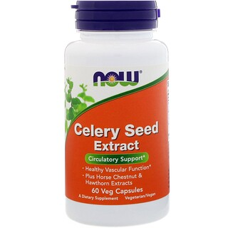 Now Foods, Celery Seed Extract, 60 Veg Capsules