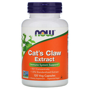 Now Foods, Cat's Claw Extract, 120 Veg Capsules отзывы покупателей