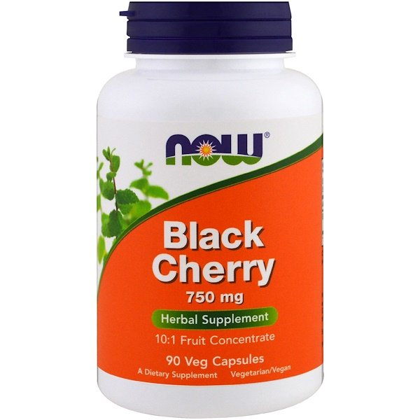 Now Foods, Black Cherry Fruit, 750 mg, 90 Veg Capsules (Discontinued Item)