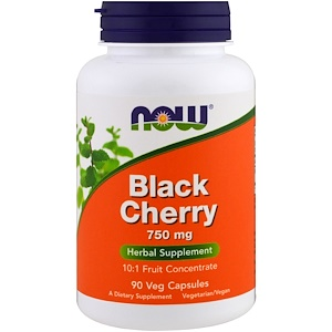 Now Foods, Black Cherry Fruit, 750 mg, 90 Veg Capsules отзывы покупателей