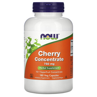 Now Foods, концентрат вишни, 750 мг, 180 растительных капсул