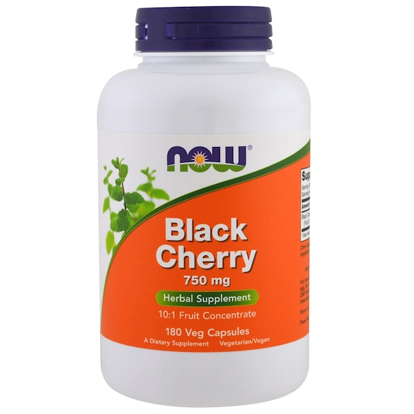 Now Foods, Black Cherry Fruit, 750 mg, 180 Veg Capsules