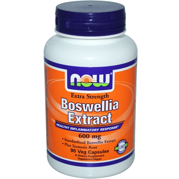 Now Foods, Boswellia Extract, Extra Strength, 600 mg, 90 Veggie Caps (Discontinued Item)