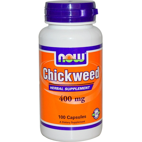 Now Foods, Chickweed, 400 mg, 100 Capsules (Discontinued Item)
