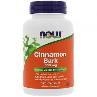 Now Foods, Cinnamon Bark, 600 mg, 120 Capsules