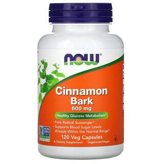 Now Foods, Cinnamon Bark, 600 mg, 120 Veg Capsules