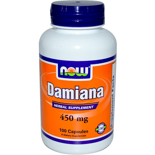 Now Foods, Damiana, 450 mg, 100 Capsules (Discontinued Item)