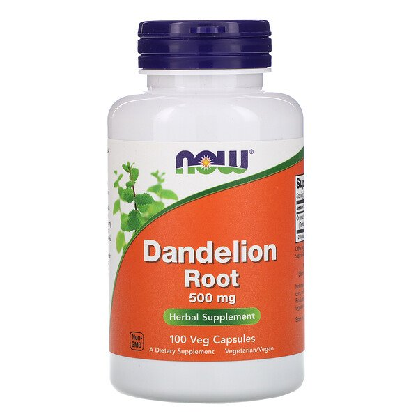 Now Foods, Dandelion Root, 500 mg, 100 Veg Capsules