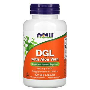 Now Foods, DGL with Aloe Vera, 400 mg, 100 Veg Capsules отзывы покупателей