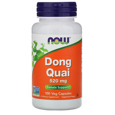 Now Foods Дягиль лекарственный, 520 мг, 100 растительных капсул