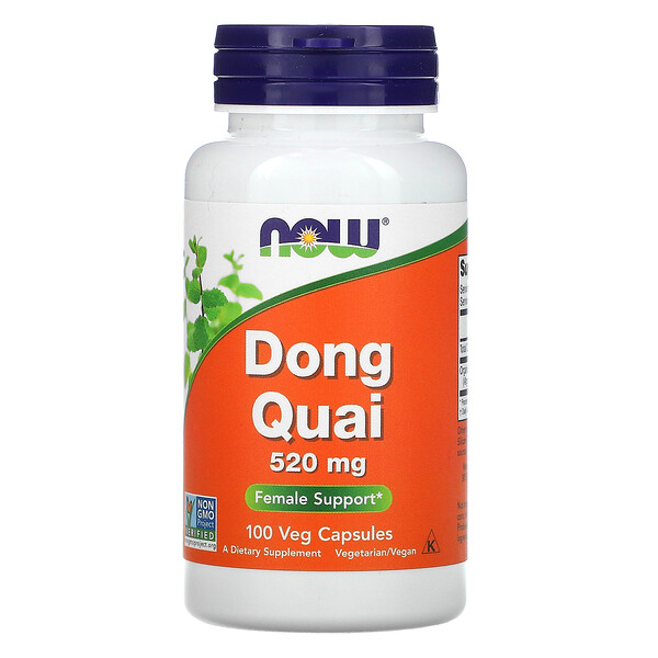 Now Foods, Dong quai, 520 mg, 100 cápsulas vegetarianas