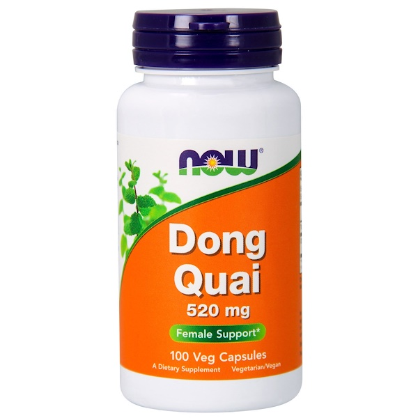 Now Foods, Dong Quai, 520 mg, 100 Veg Capsules