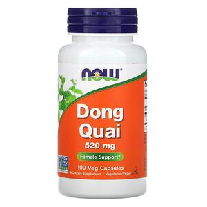 Now Foods, Dong Quai, 520 mg, 100 Veg Capsules отзывы