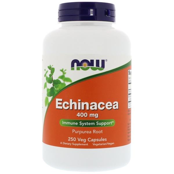 Now Foods, Echinacea, 400 mg, 250 Veg Capsules