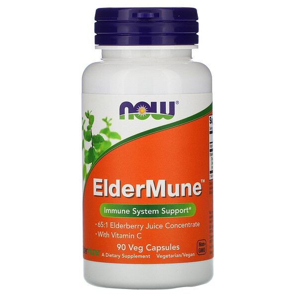 Now Foods, ElderMune, Immune System Support, 90 Veg Capsules