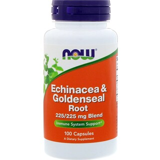 Now Foods, Echinacea & Goldenseal Root, 100 Capsules