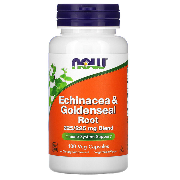 Now Foods, Echinacea & Goldenseal Root, 100 Veg Capsules