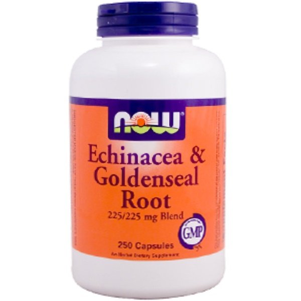 Now Foods, Echinacea & Goldenseal Root, 225/225 mg Blend, 250 Capsules (Discontinued Item)