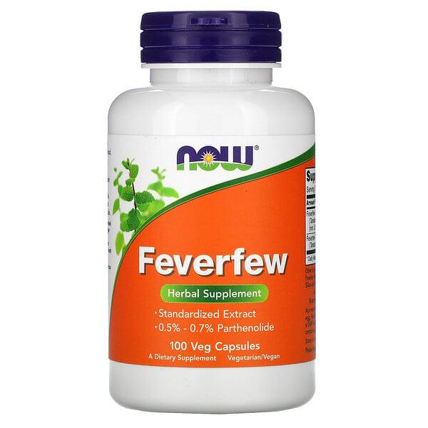 Now Foods, Feverfew, 100 cápsulas