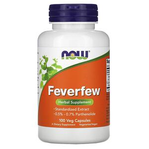 Now Foods, Feverfew, 100 Veg Capsules отзывы