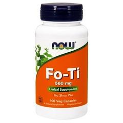 Now Foods, フォーチ、ツルドクダミ、560 mg、植物カプセル100錠