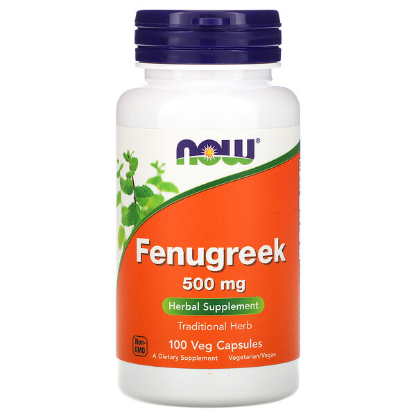 Now Foods, Fenugreek, 500 mg, 100 Veg Capsules
